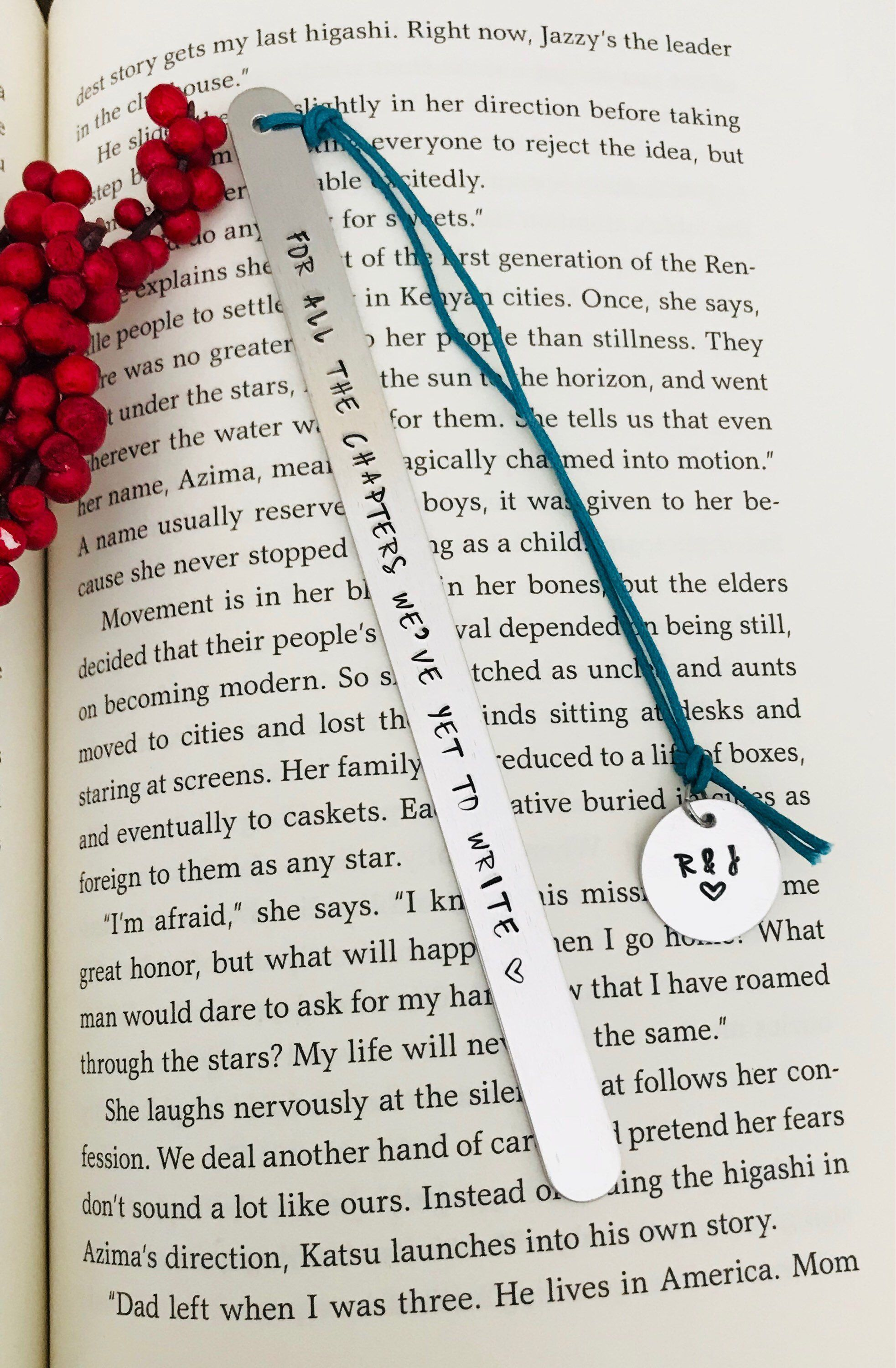 Excited To Share This Item From My Etsy Metal Bookmark Personalized Engagement Gift Wife Idea 1st Anniversary For Reader
