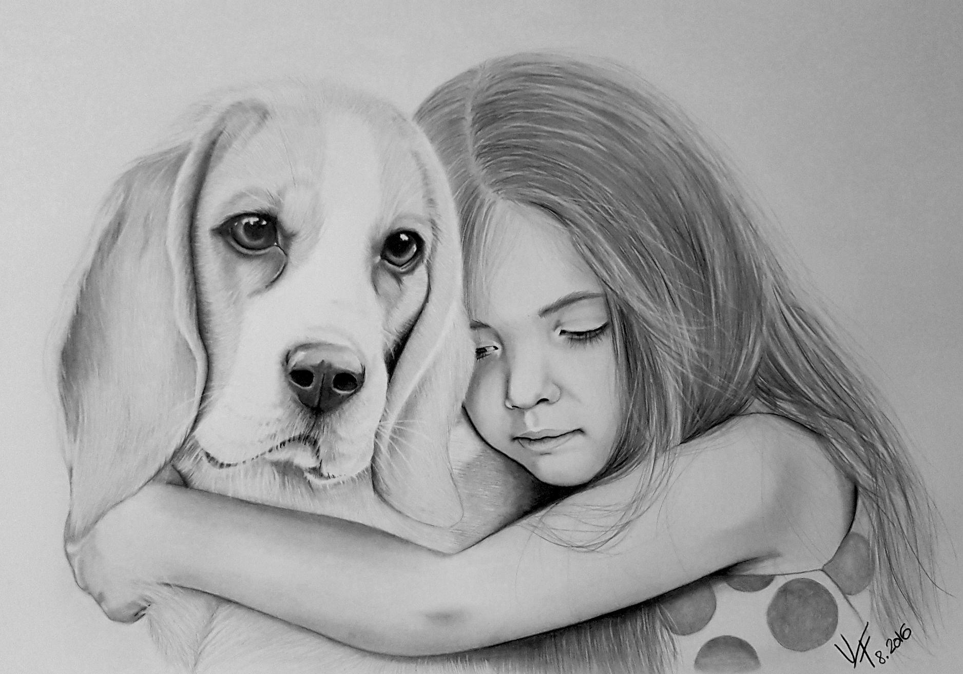 Cute Beagle Puppy Lying Down Beagle Art