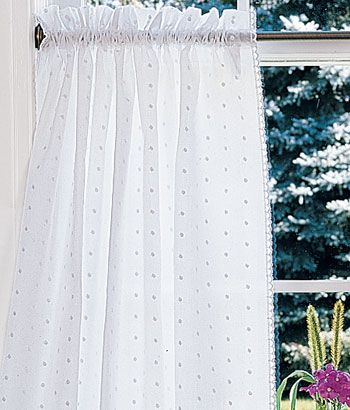 Swiss Dot Curtains In 2019 Cafe Curtains Rustic