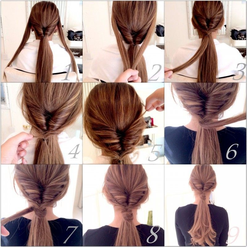 ヘアアレンジ 簡単可愛い ロングへアのくるりんぱアレンジ Folk Hair Arrange Hair Tutorial Hair Styles