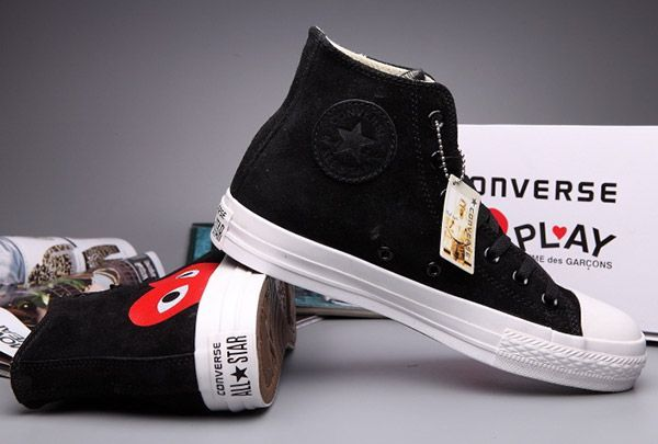 5fb2bc24f789 Black High Tops Converse Comme Des Garcons Suede Chuck Taylor All Star   converse  shoes