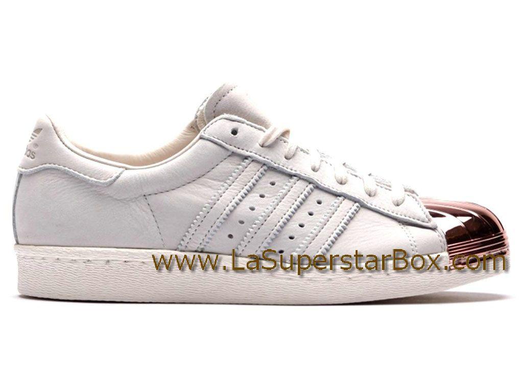 Adidas Originals Chaussures Homme Femme Superstar 80s Metal Toe Blanc Or  M25319 Adidas Running 40f7569ae372