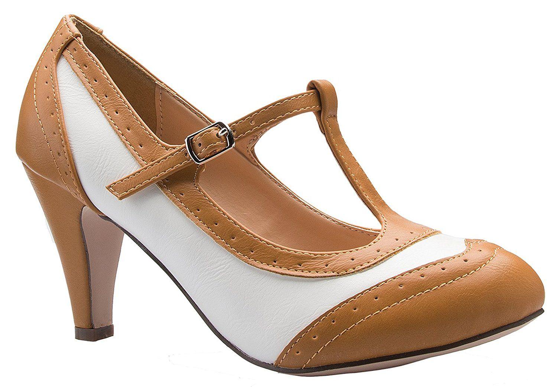 Women's Retro Low Heel Sandals Court Shoes