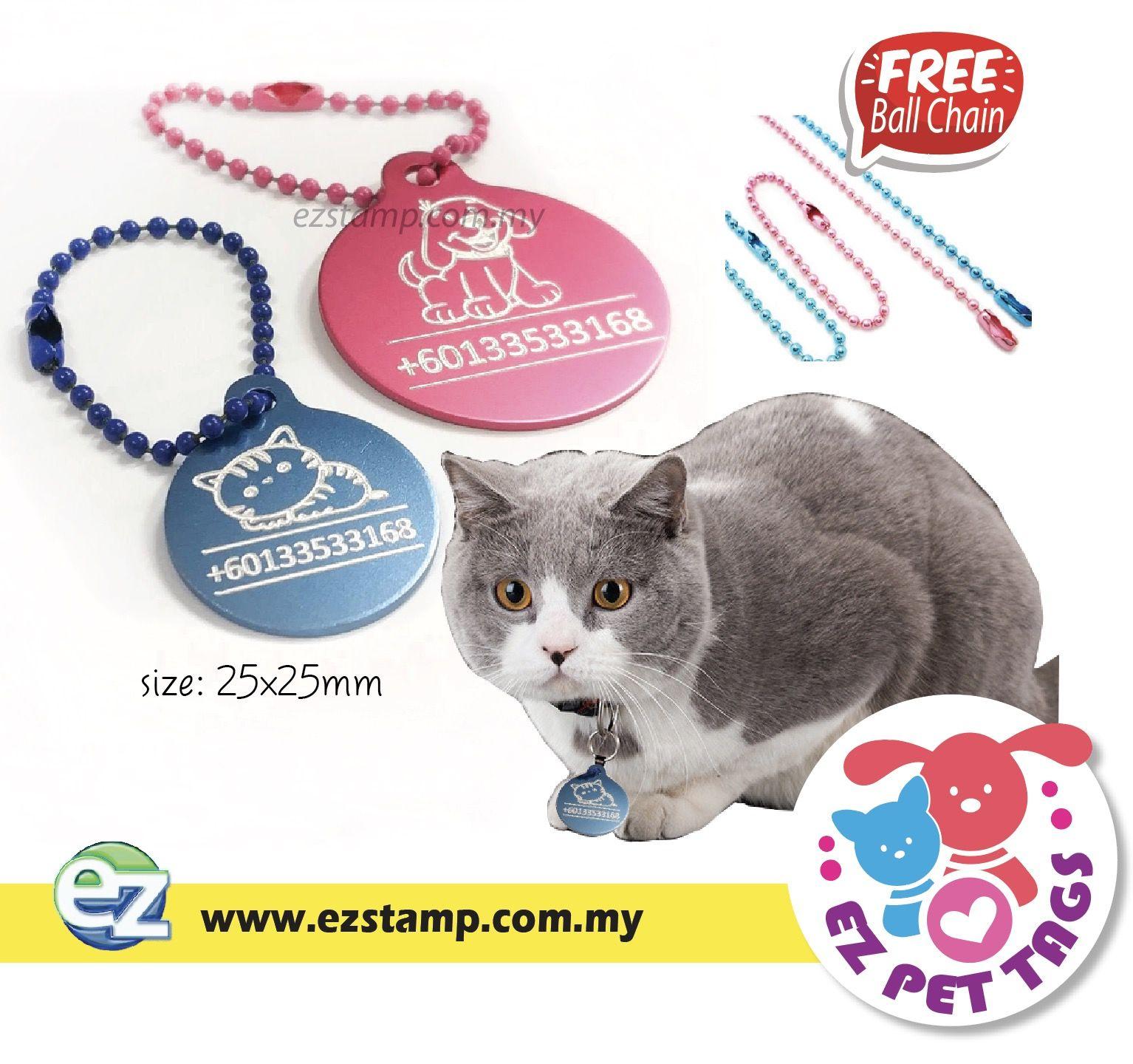 Tag Nama Kucing Peliharaan Produk Baru Kami Ez Pet Tags Untuk Kucing Kucing Kesayangan Anda Pet Id Tags Pet Id Pets