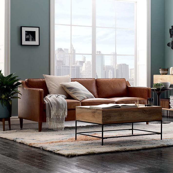 Hamilton Leather Sofa 81 Quot Brown Living Room Decor