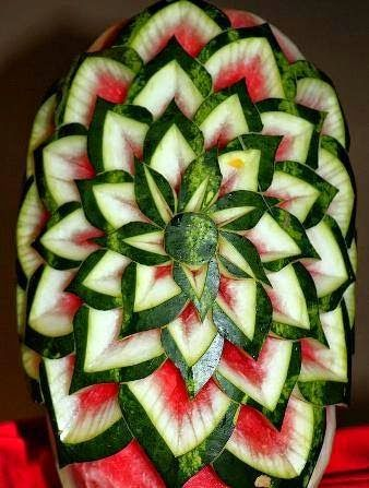 Watermelon art creativity ~ islamic quotes about food art