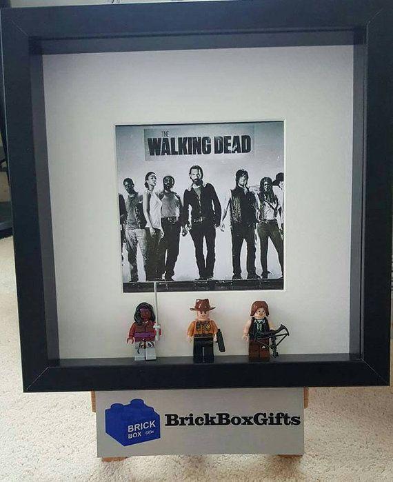 Lego Minifigure 3d Box Frame The Walking Dead Handmade Ideal The