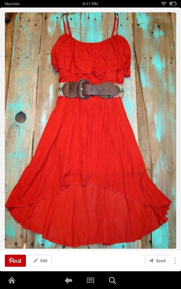 16d0420e1d40 Red Country girl dress!!!