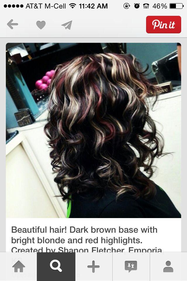 Red Blonde Black Hair Pinterest Red Blonde Blondes And Hair