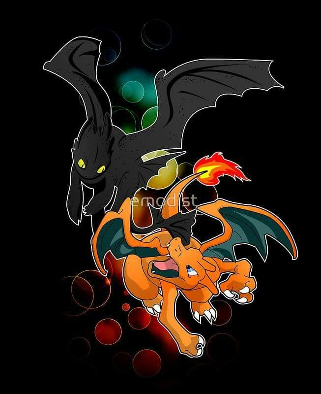 AWESOME!!!!!! XD :D :) ^_^ ^.^ ♡ Toothless with Charizard ^.^ ♡ I give good credit to whoever made this