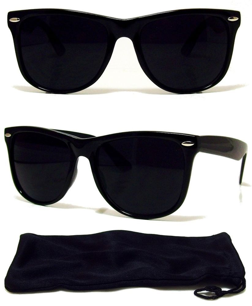 a9739badba5 MEN Sunglasses Wayfarer Style Black Frame with Dark Lens - NEW ...