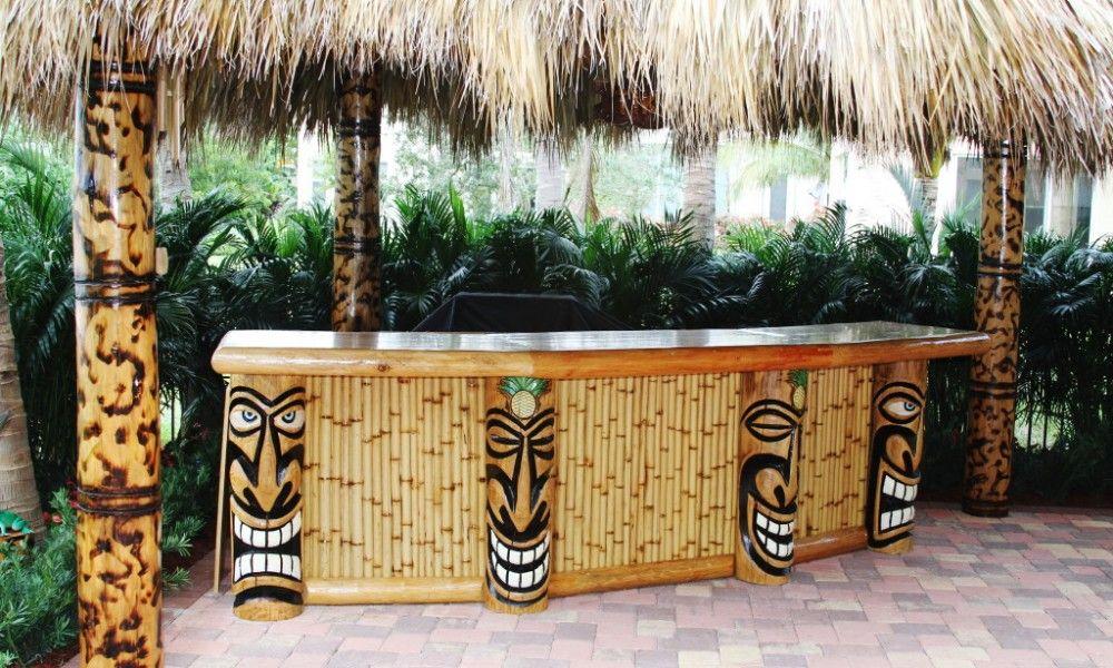 Outdoor Tiki Bar, Tiki Patio Decor