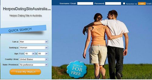 Free herpes dating site australia
