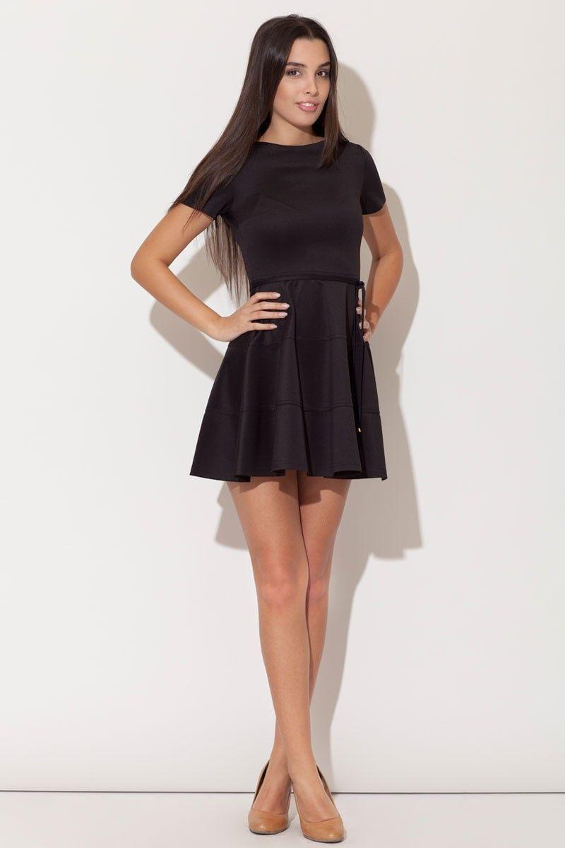 robe courte jupe evasee noire mademoiselle grenade With robe évasée courte
