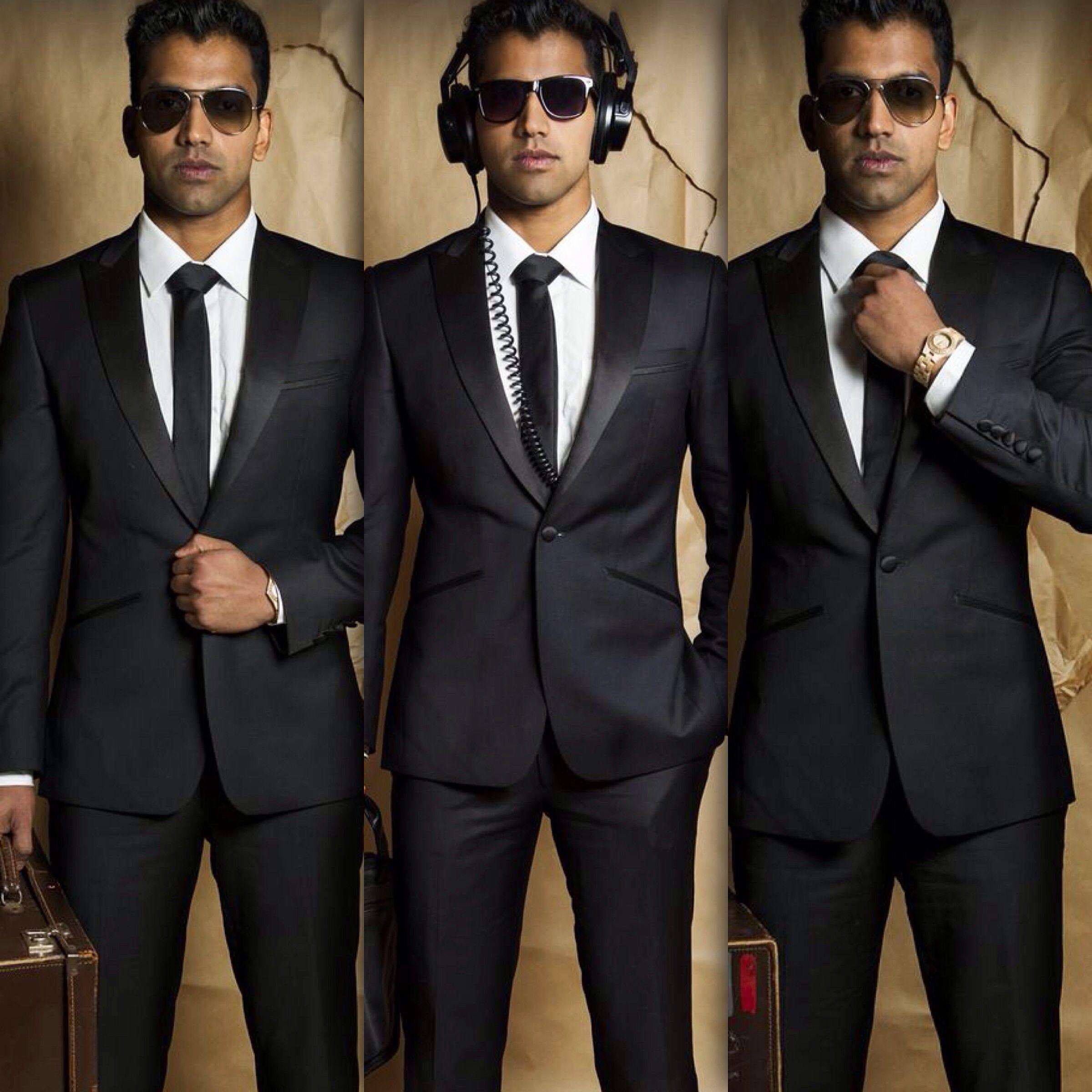 Men in black suit / office suit / bond style /cool / sameer ...