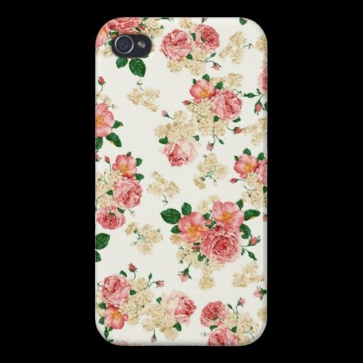 Roses and Magnolias Case For iPhone 4