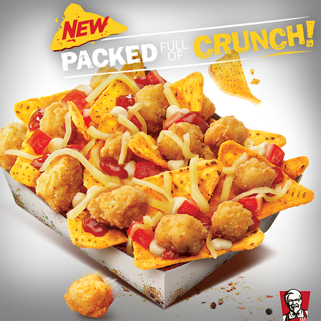KFC's Popcorn Chicken Nacho Box (Australia) | The 33 Craziest New Fast Foods Of 2014