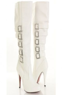 Women's winter white leather boots – Your jacket photo blog