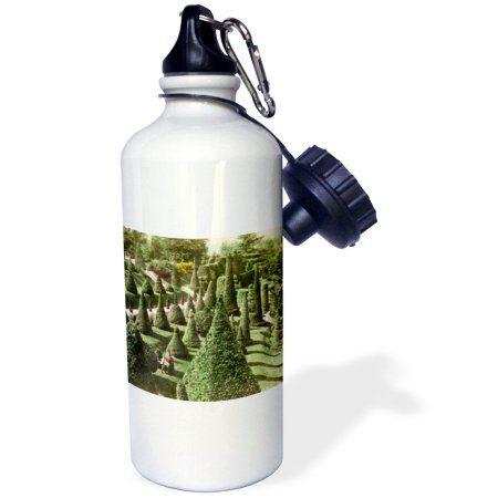 3dRose View in Mr. Hunnewells Grounds Wellesley Massachusetts, Sports Water Bottle, 21oz, White