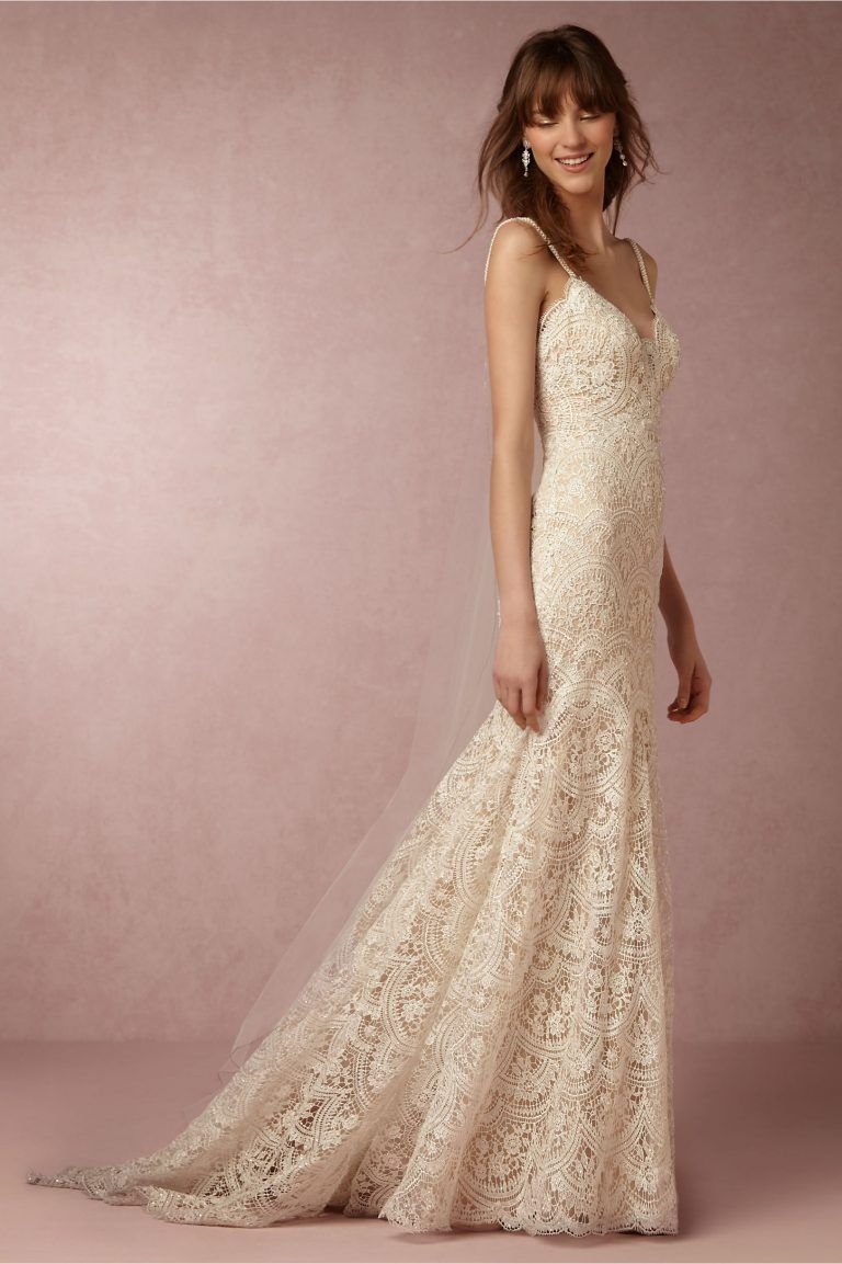 Eyelet wedding dress   ShowStopping Wedding Dresses We Love This Week  Lace We and
