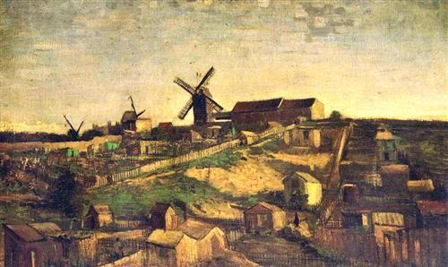 Van Gogh, Montmartre, la cantera y los molinos de viento, 1986.  Rijksmuseum Kröller-Müller, Otterlo, Netherlands