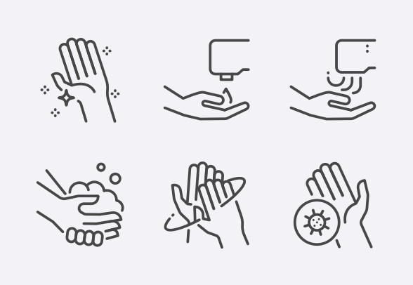 Hand Washing Icons By Siwat V Hand Washing Poster Hand Washing Hands Icon
