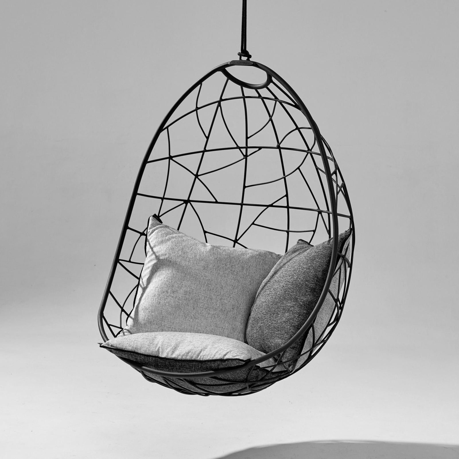 Nest Egg Hanging Swing Chair Black In 2020 Hanging Swing Chair Swinging Chair Hanging Egg Chair