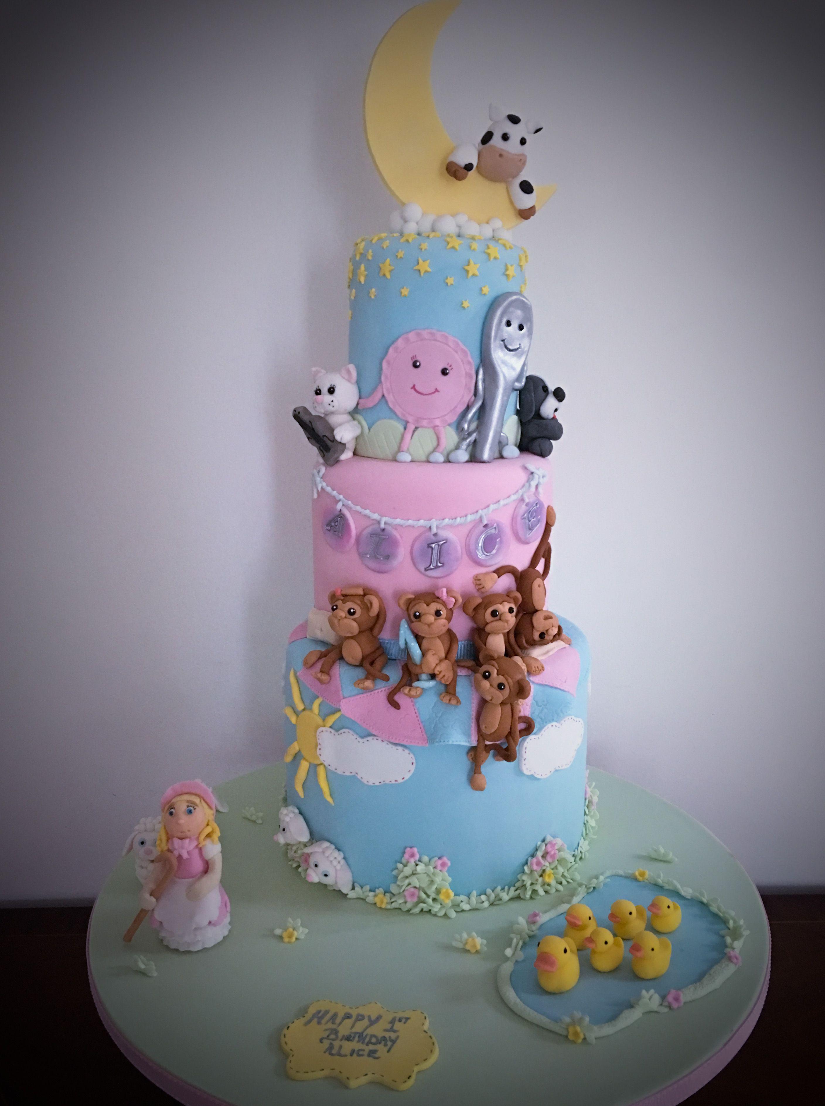 Nursery Rhyme Cake 1st Birthday Cakes Nursery Rhyme Baby Shower
