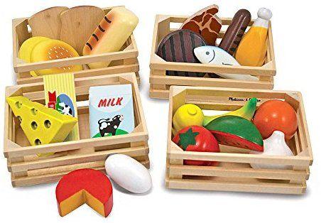 amazon com melissa doug food groups 21 hand painted wooden rh pinterest com