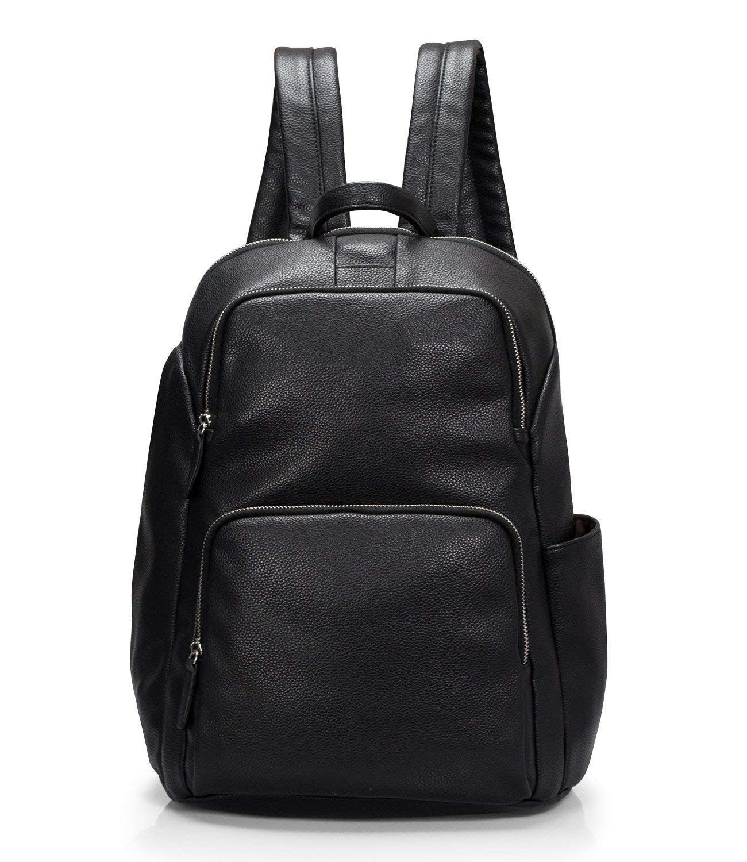 c5becf59b3ce Estarer Women Small PU Leather Black Backpack Teen Girls Fashion Rucksack  for School Work Travel  Amazon.co.uk  Luggage