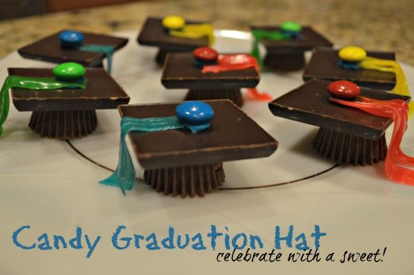 Candy Graduation Hat and Diploma, for your favorite graduate! Mine just finished Kindergarten! http://goo.gl/DrSQvK