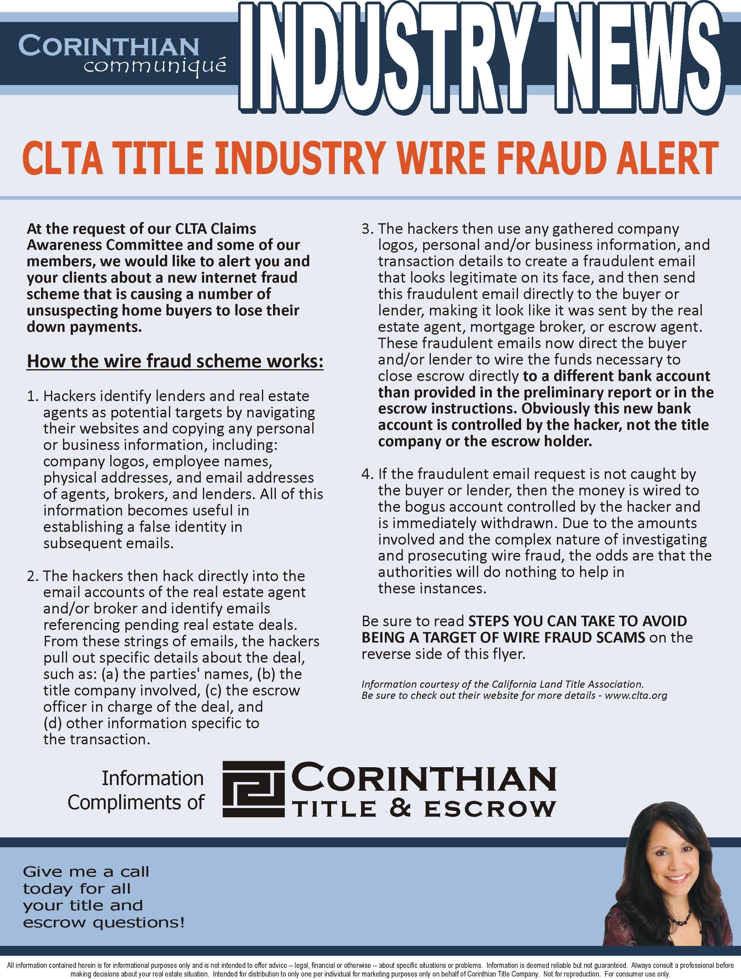 Wire Fraud Alert https://corinthiantitle.com/directory/carmen-vinti ...