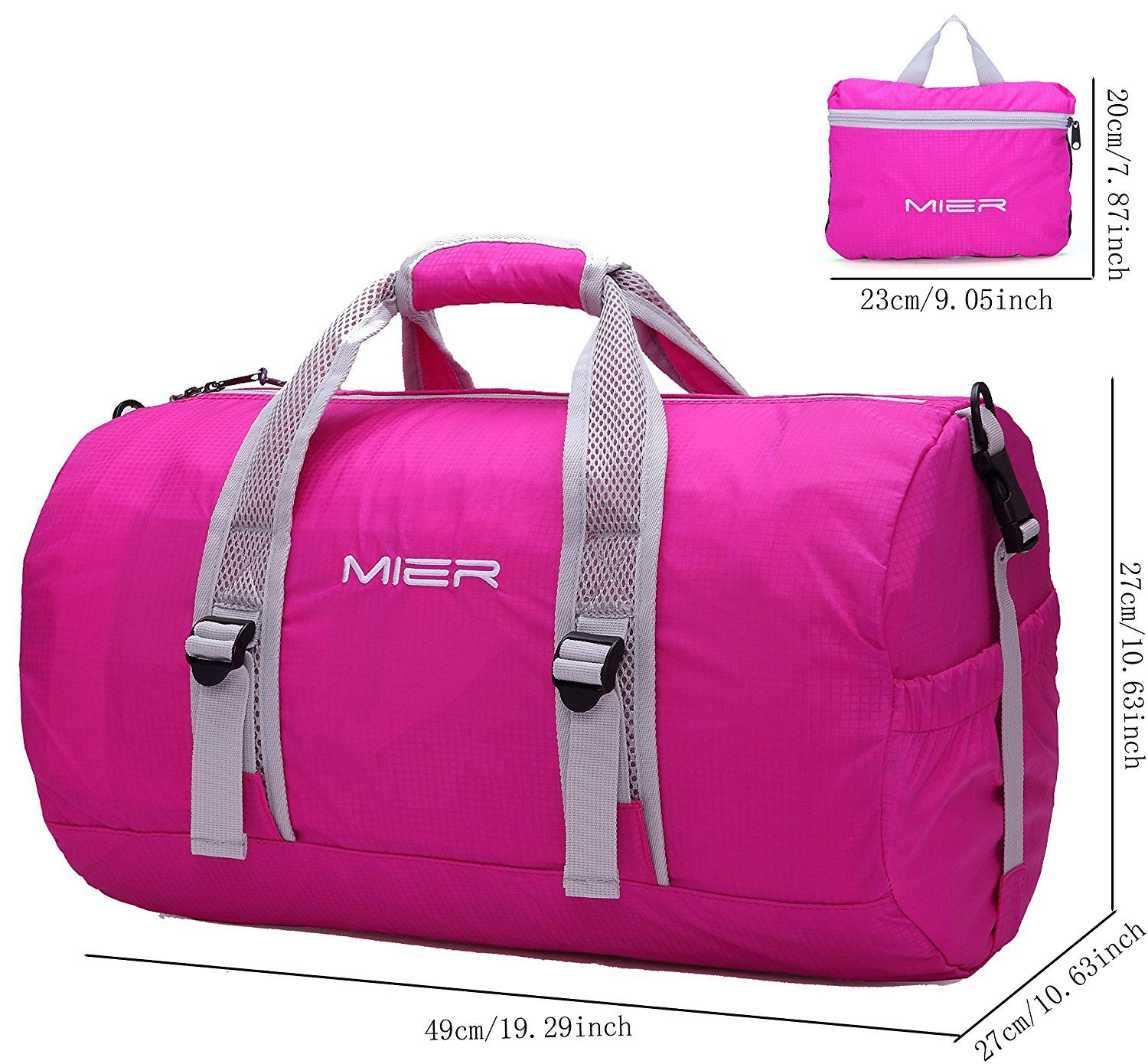 78c5eca46 MIER Foldable Small Duffel Bag Lightweight for Sports, Gyms, Yoga, Travel,  Overnight