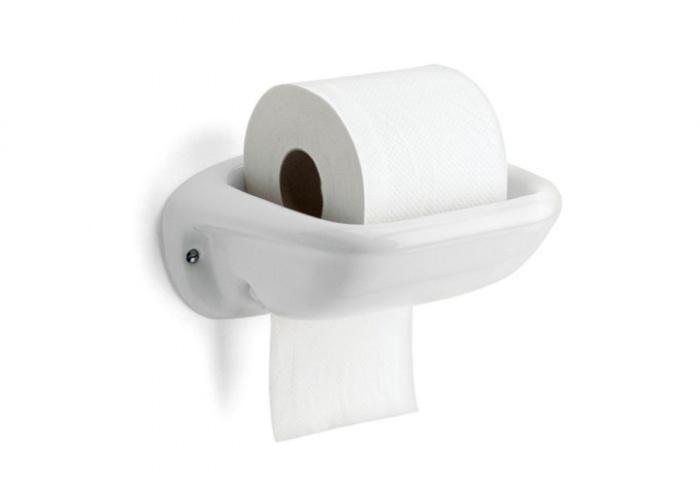 Thomas Hoof Porcelain Toilet Paper Holder