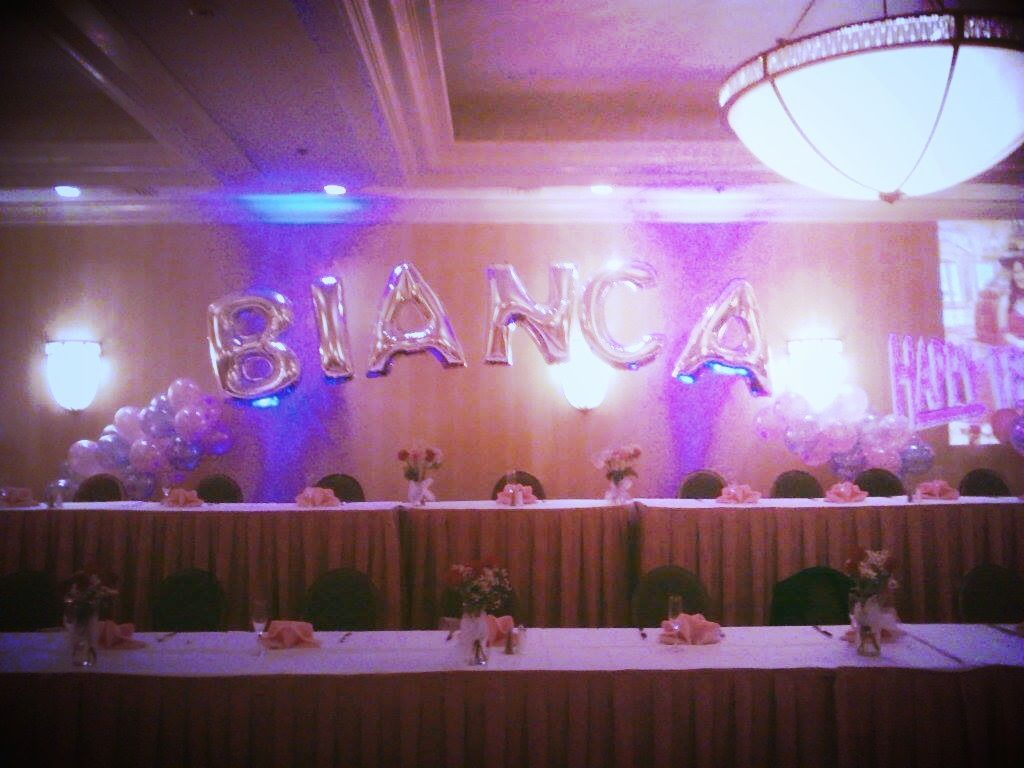 18th birthday decoration for head table balloonname for 18th birthday decoration