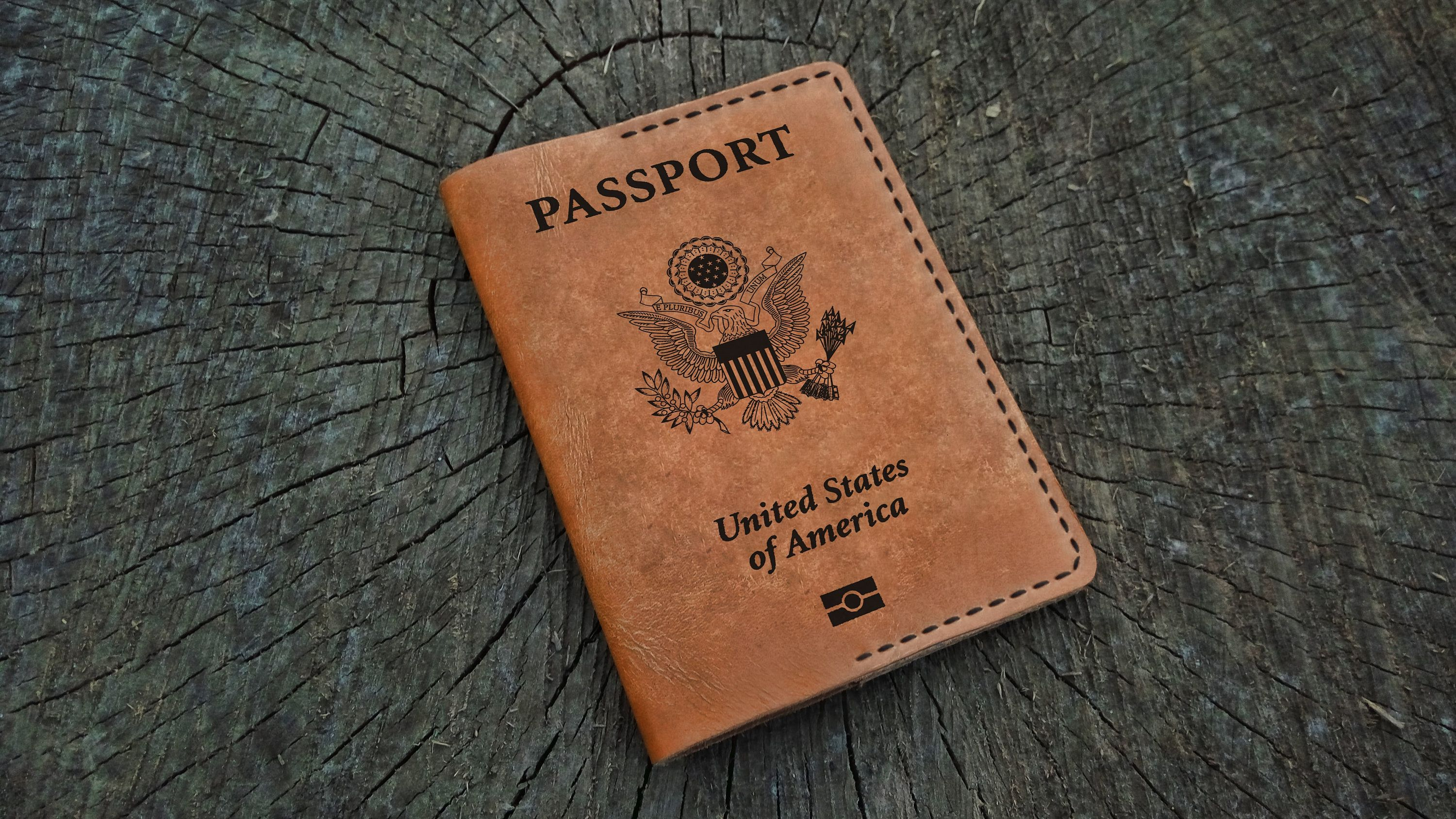 Leather Passport Cover Personalized Passport United