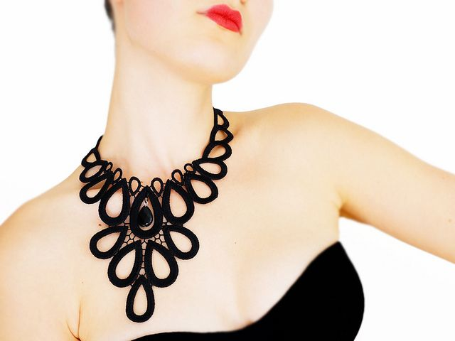 Lace Necklaces by EPUU on ETSY     #fashion #lace #necklace #woman #girlfriend #gift