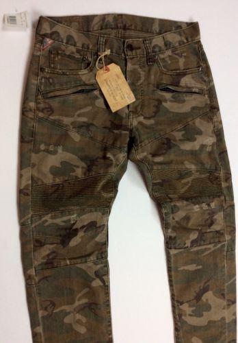 27bf790e02faf Denim-Supply-Ralph-Lauren-Men-Military-Army-Camo-Slim-Moto-Biker-Jeans-Pants
