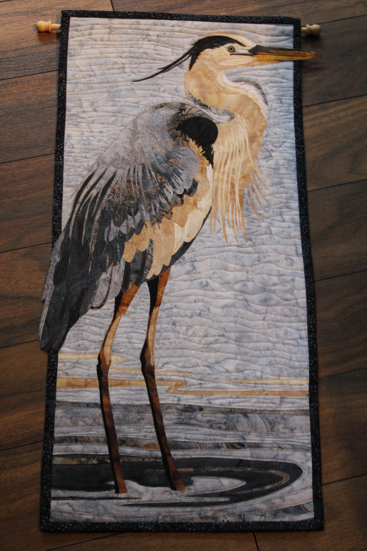 Blue Heron using Toni Whitney pattern. Similar to McKenna Ryan ... : pictorial quilts technique - Adamdwight.com