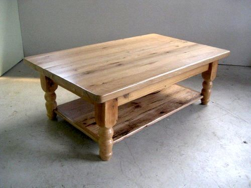 Old Rustic Coffee Tables 54 Inch Oak Table With Clear Coat And Medium