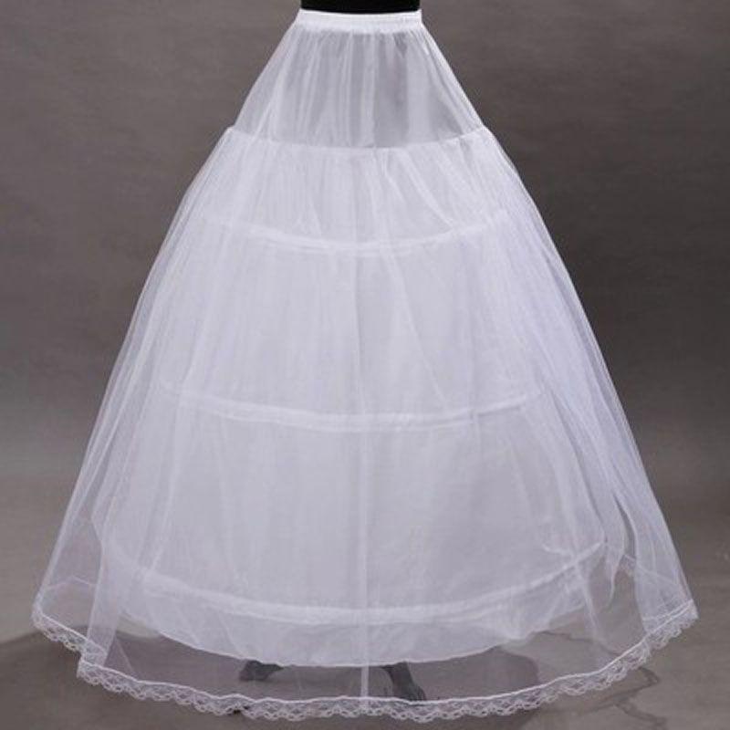 2017 Hot Sale Underskirt 3 Hoops Ball Gown Bone Slip Full Crinoline ...