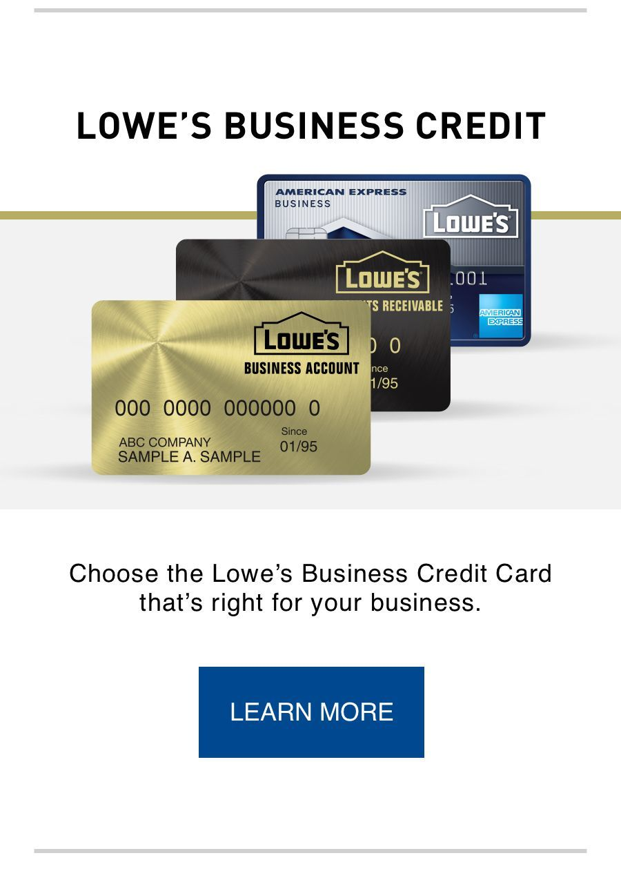 lowes business credit chooses rdwadewthe lowes business credit card thats right for your business - Lowes Business Credit Card