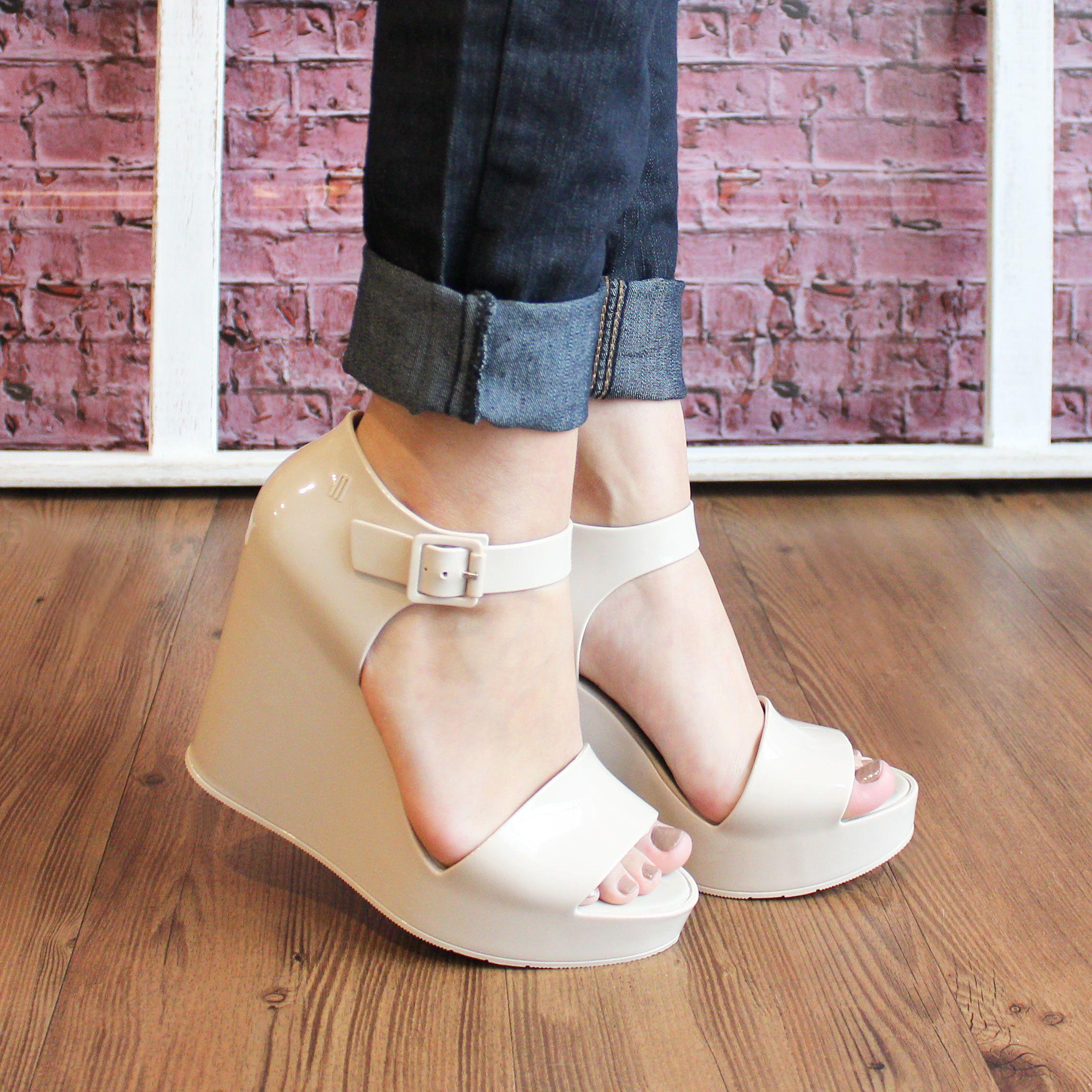 846634eaa1 Melissa Mar Wedge Sapatos Confortáveis