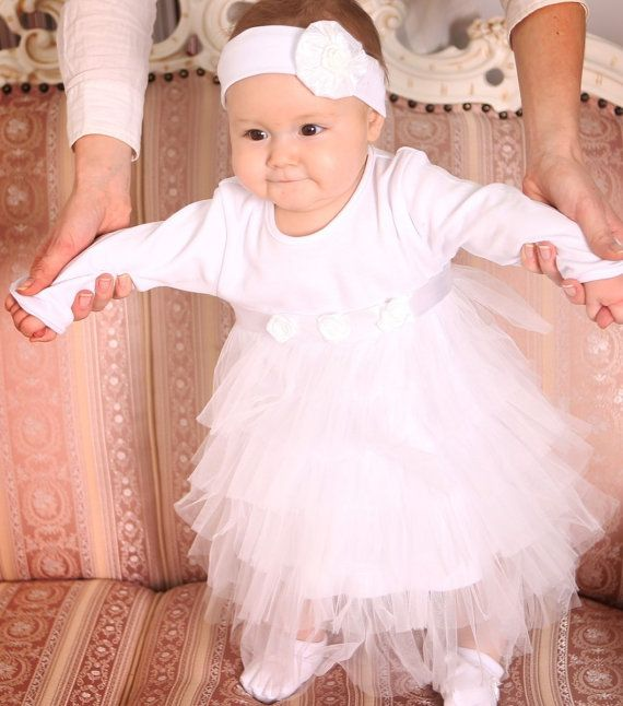 Baby wedding dress. Baby christening gown. Handmade baby dress ...