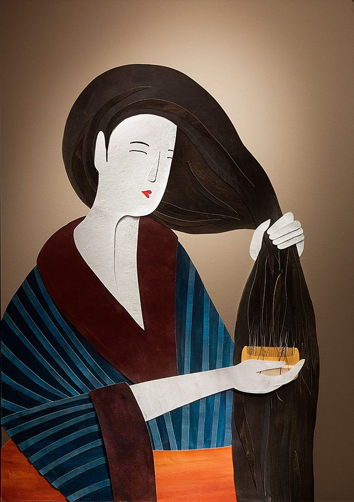 Japanese Comb Project with Jonathan Knowles. Stacey Knights Illustration