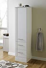 Freestanding High Gloss White Wood Bathroom Tallboy By Showerdrape Davos Bathroom Cupboard Storage Cupboard Storage Bathroom Tallboy