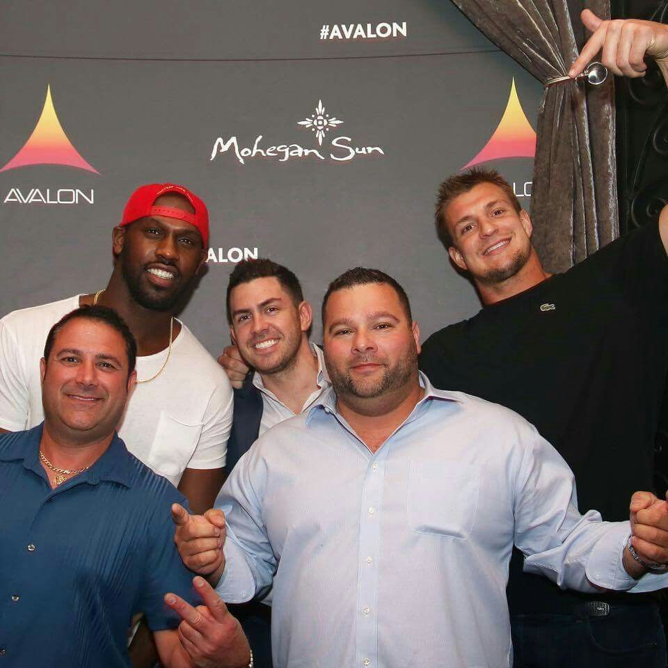 It is with a heavy heart that I share the sad news of the passing of Gronk's long time friend/trainer Dana Parenteau. He is pictured here, bottom left, enjoying good times with the Boyz at Avalon Mohegan Sun earlier this year. Our thoughts and prayers are with you Rob. May you find comfort in all the happy memories you shared. <3