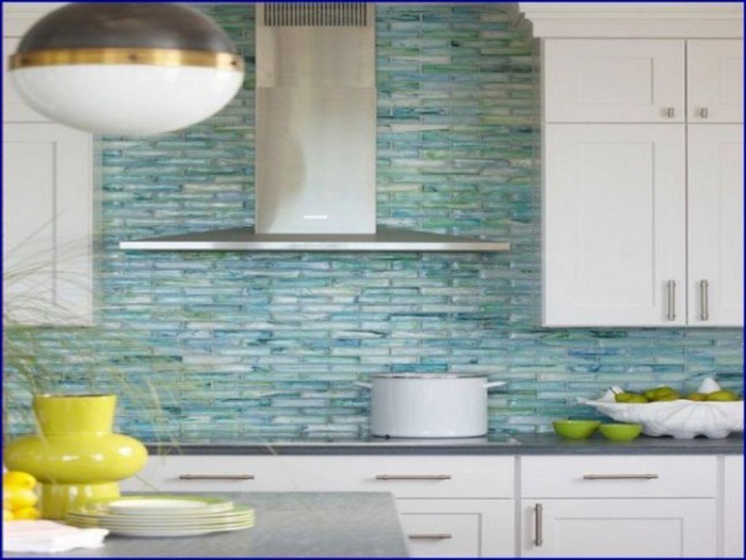 5 Sea Glass Tile Kitchen Backsplash Decoredo With Images