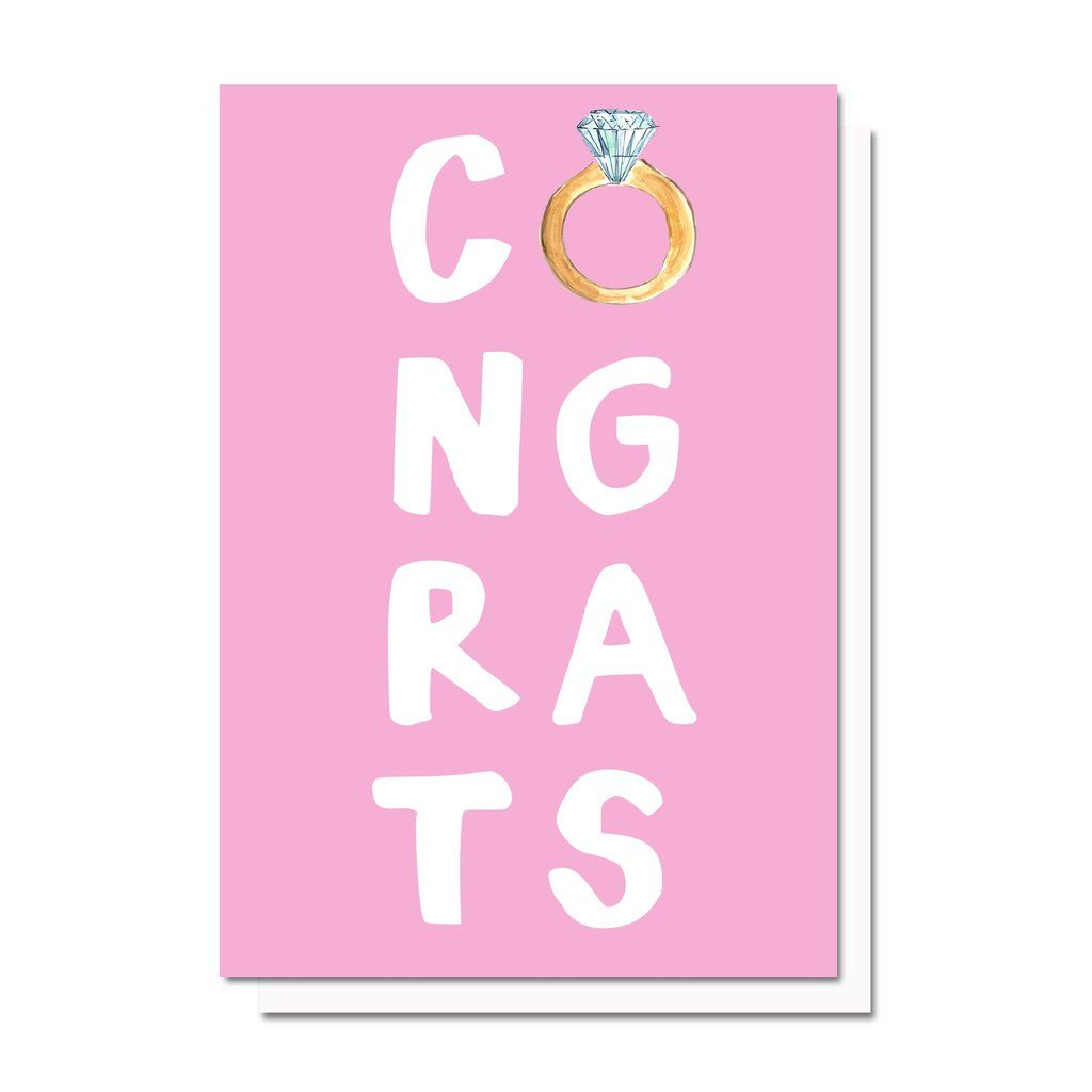 Engagement congrats card in evelyn henson pinterest