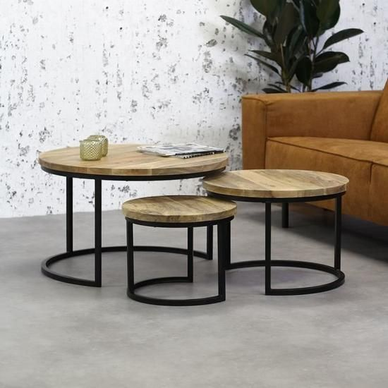 3 Tables Basses Bois Massif Ivy En 2020 Table Basse Bois Massif Table Basse Bois Table Basse